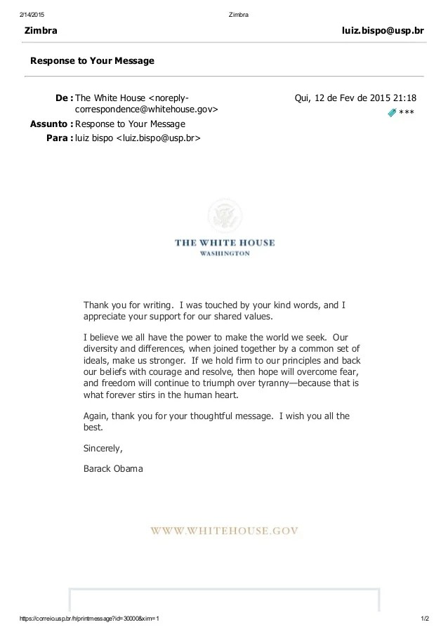 barack obama e mail