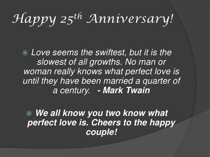 John  Susans 25th Wedding Anniversary
