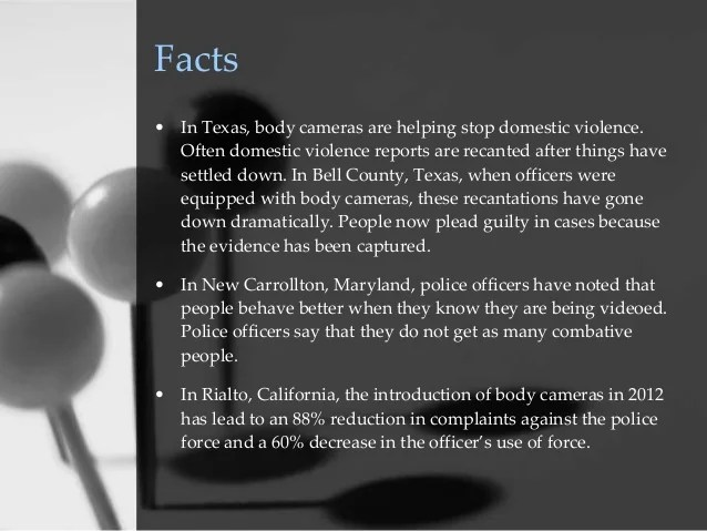 Law Enforcement Body Cameras