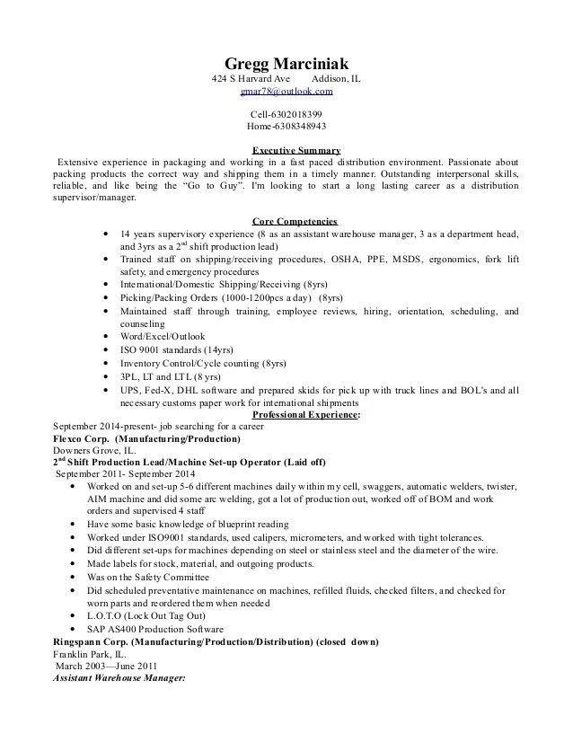 distribution manager resumes