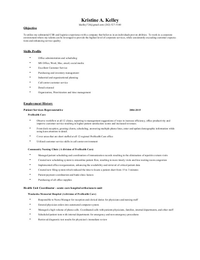 Prohealth Care My Chart : prohealth, chart, Kelley, Resume-A