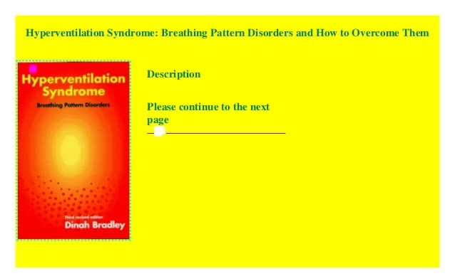Hyperventilation Syndrome: Breathing Pattern Disorders and ...