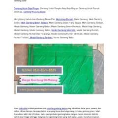 Merk Atap Baja Ringan Yang Bagus Wa Telp 082186148884 Grosir Genteng Beton Press Surabaya Jual Gen
