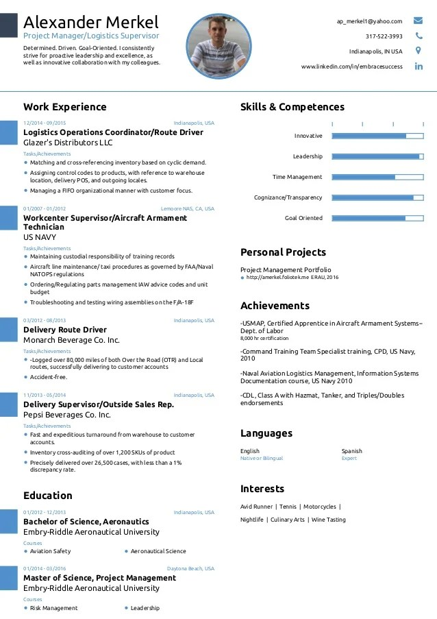 project engineer resume sample 1 page