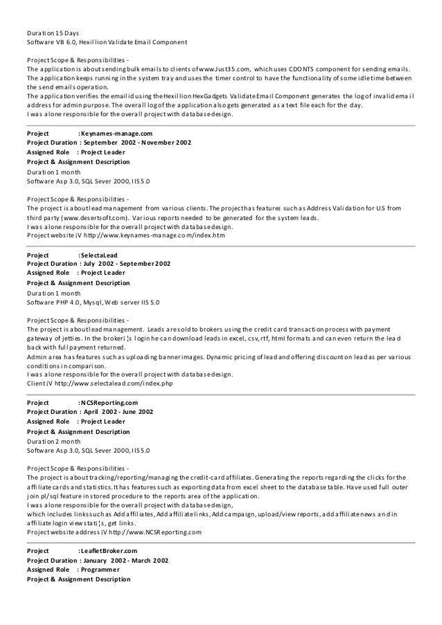 Dot Net Experience Resume  Resume Ideas