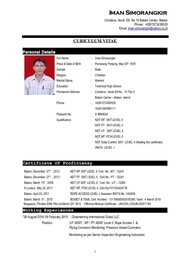 CV Iman Simorangkir