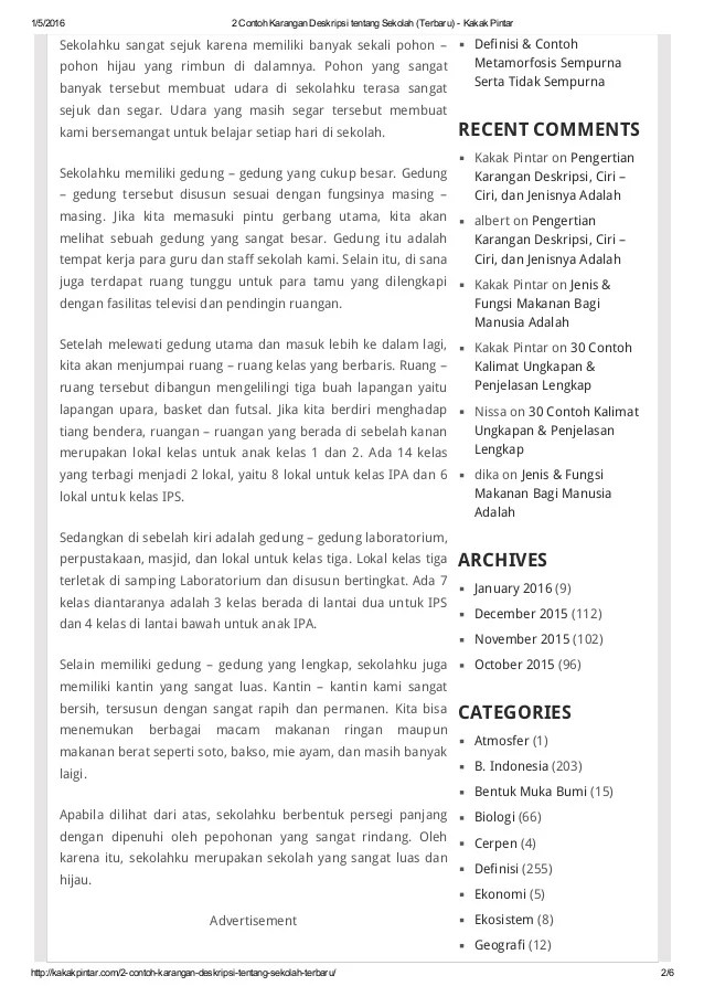 Contoh Karangan Tentang Sekolahku : contoh, karangan, tentang, sekolahku, Contoh, Karangan, Deskripsi, Tentang, Sekolah, Terbaru, Cute766