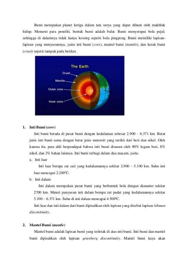 Lapisan Bumi Paling Dalam : lapisan, paling, dalam, Struktur, Lapisan
