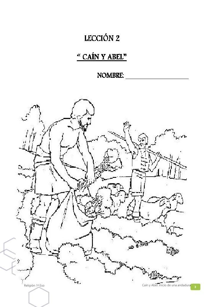 Hermosa Biblia Colorear Páginas Cain Y Abel Colección - Ideas Para ...