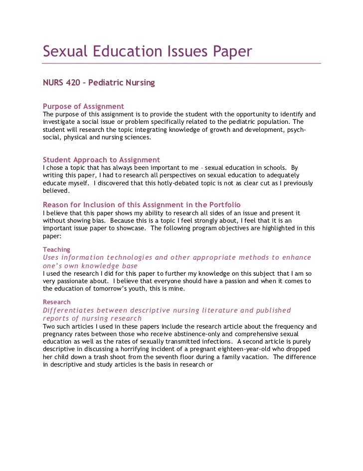 pediatric nursing research topics