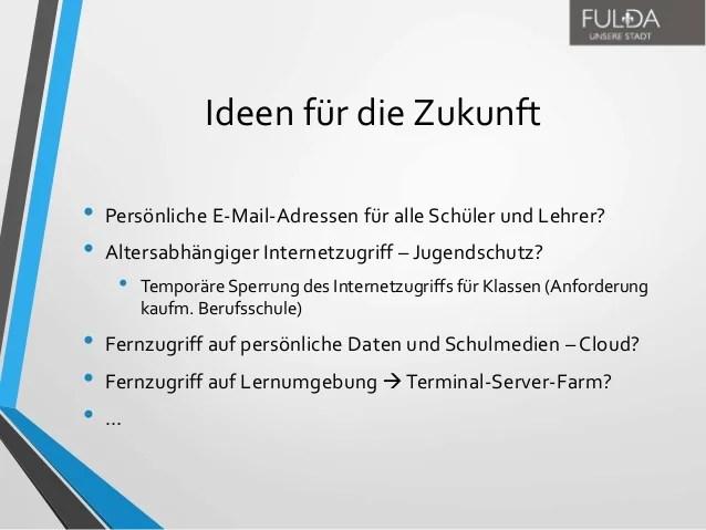 Einfhrung eines IDMSystems fr die Fuldaer Schulen  Von der Idee z