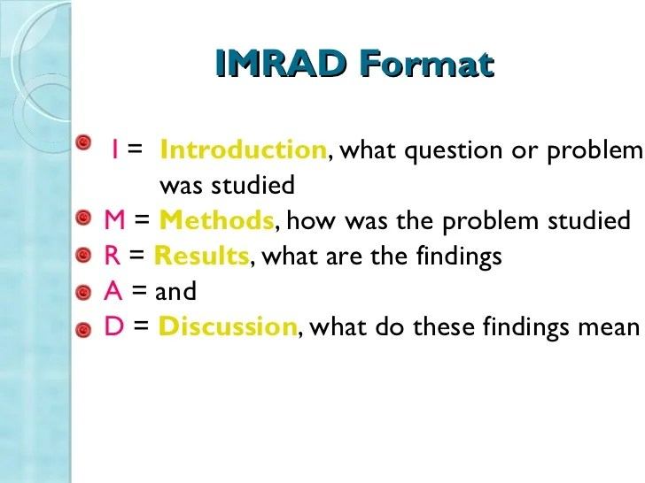 Imrad Format Hizli Rapidlaunch Co