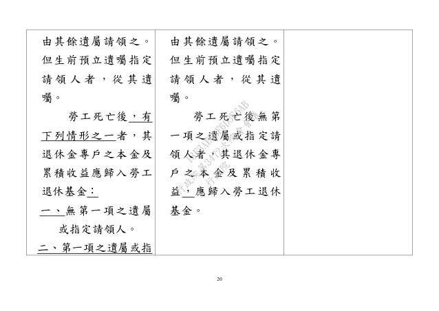 20151029勞動部:「勞工退休金條例」修正草案