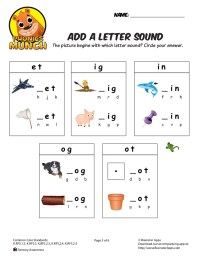 Add a Letter Sound Phonics Worksheet