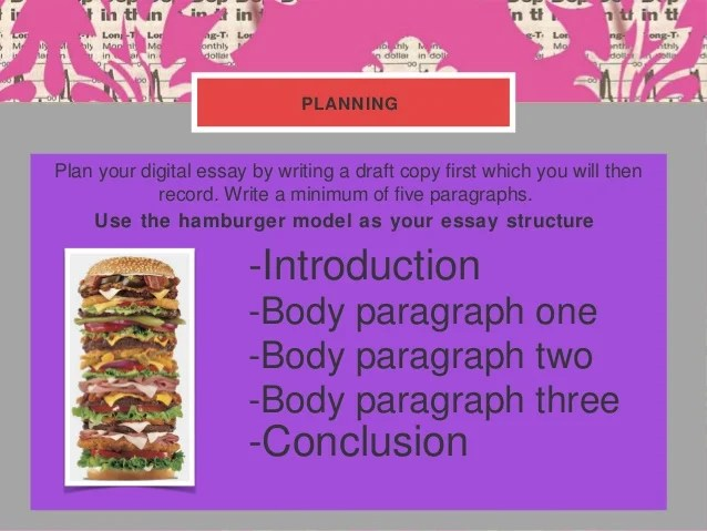 5 paragraph essay power point Basic five-paragraph essay by kristen weddle edited by uwc staff (© dbu university writing center) a five-paragraph essay should have the following basic format: i introduction a background info b thesis sentence (including 3 specific points) ii.