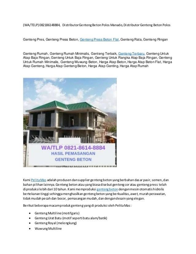 harga rangka baja ringan manado wa telp 082186148884 genteng beton rata tuban