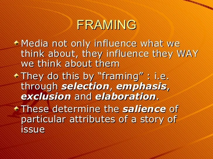 Agenda Setting Framing And Priming Nakanak Org