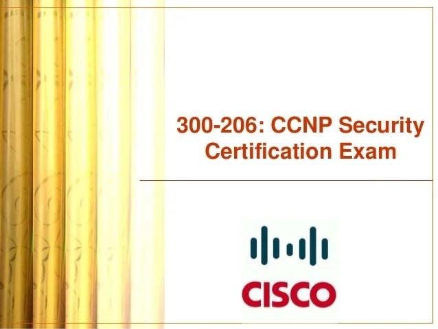 Ccnp Security Technology Course 300 206 Senss