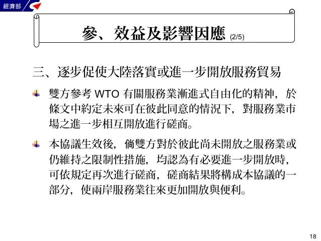 「兩岸服務貿易協議」簡介 經濟部