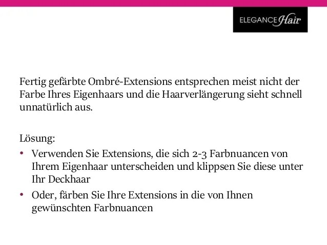 ClipIn Extensions Ombr frben