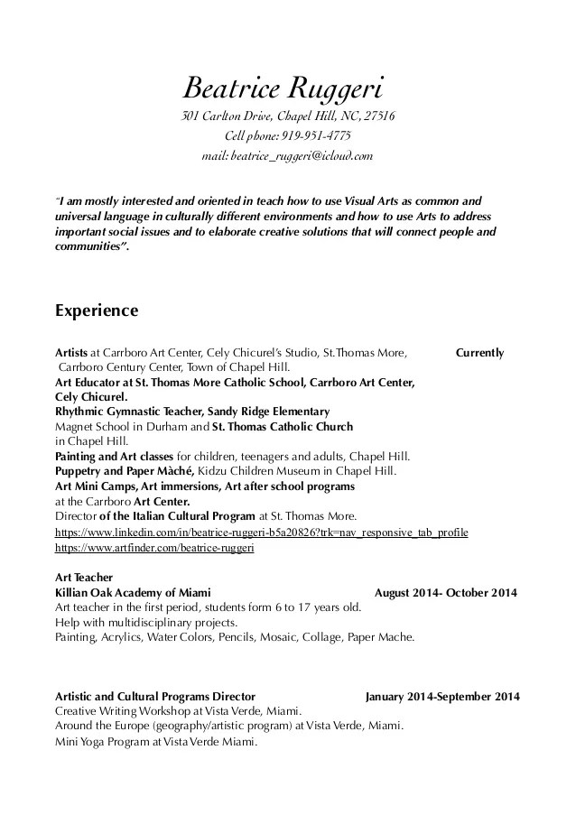 resume for gst profile