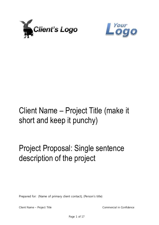Business Proposal Template for Consulting Program Implementation