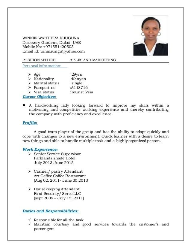 Sample CV New