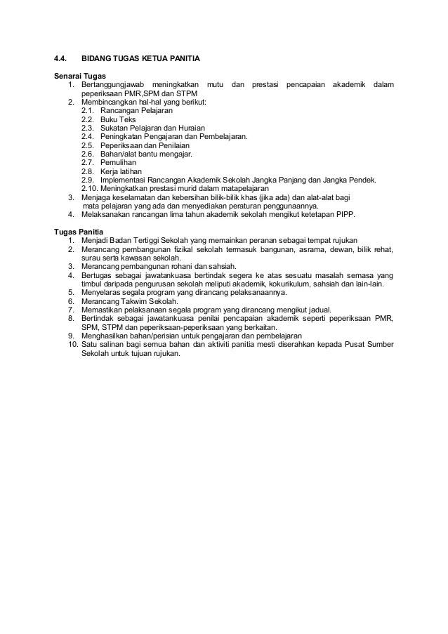 Tugas Ketua Panitia : tugas, ketua, panitia, 34)bidang, Tugas, Ketua, Panitia