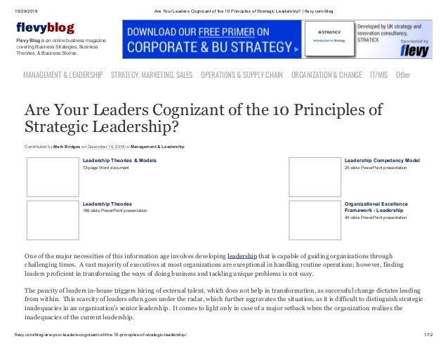 Whitepaper Are Your Leaders Cognizant Of The 10