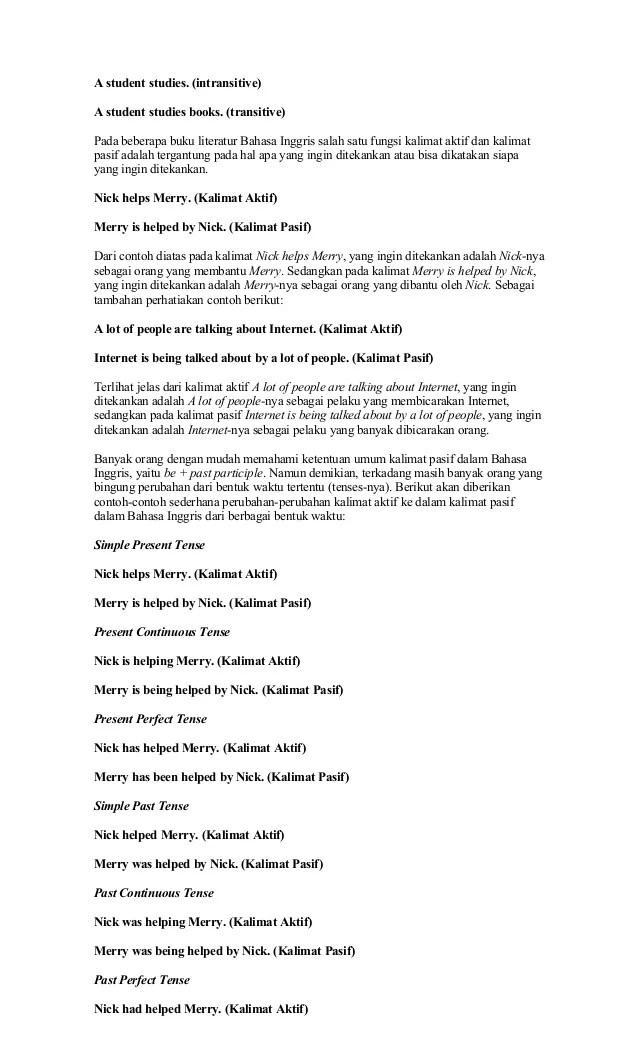 Kalimat Pasif Dan Aktif Dalam Bahasa Inggris : kalimat, pasif, aktif, dalam, bahasa, inggris, Contoh, Kalimat, Aktif, Pasif, Bahasa, Inggris, Barisan, Cute766