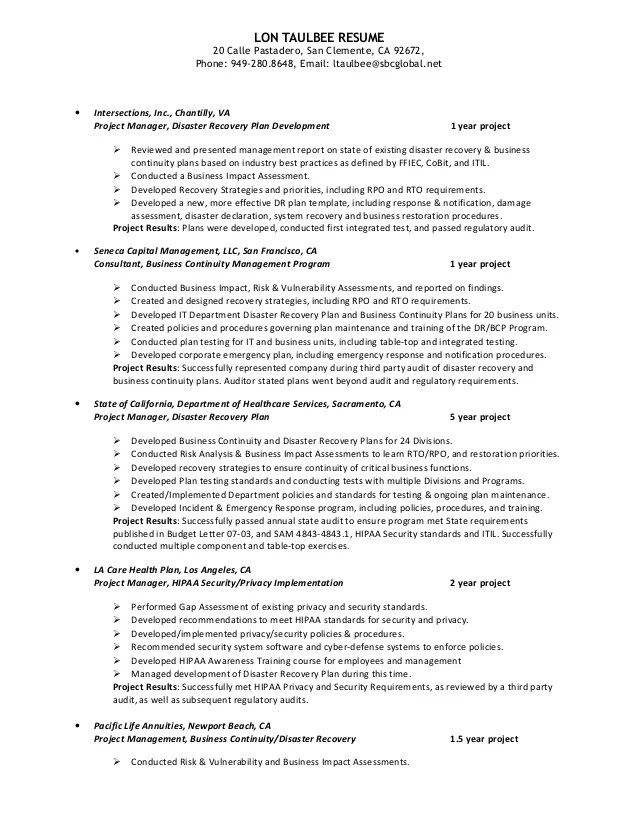 Disaster recovery resume sample  collegeconsultantsxfc2com