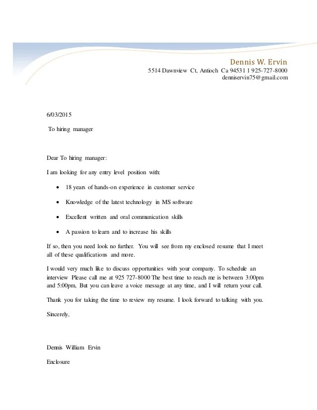 unsolicited resume cover letters