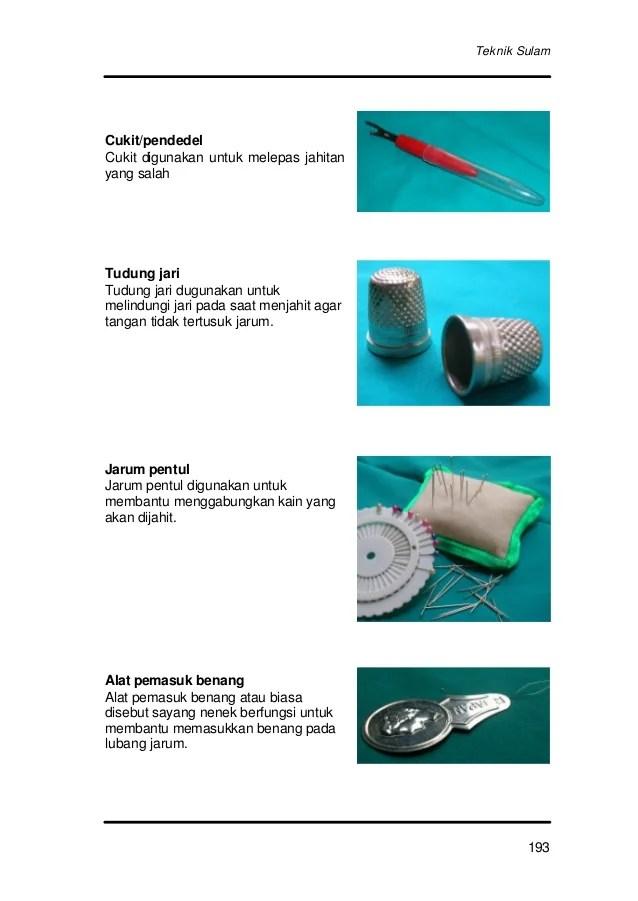 Alat Produksi Jahit Aplikasi : produksi, jahit, aplikasi, Handbook, Tekstil, Jilid