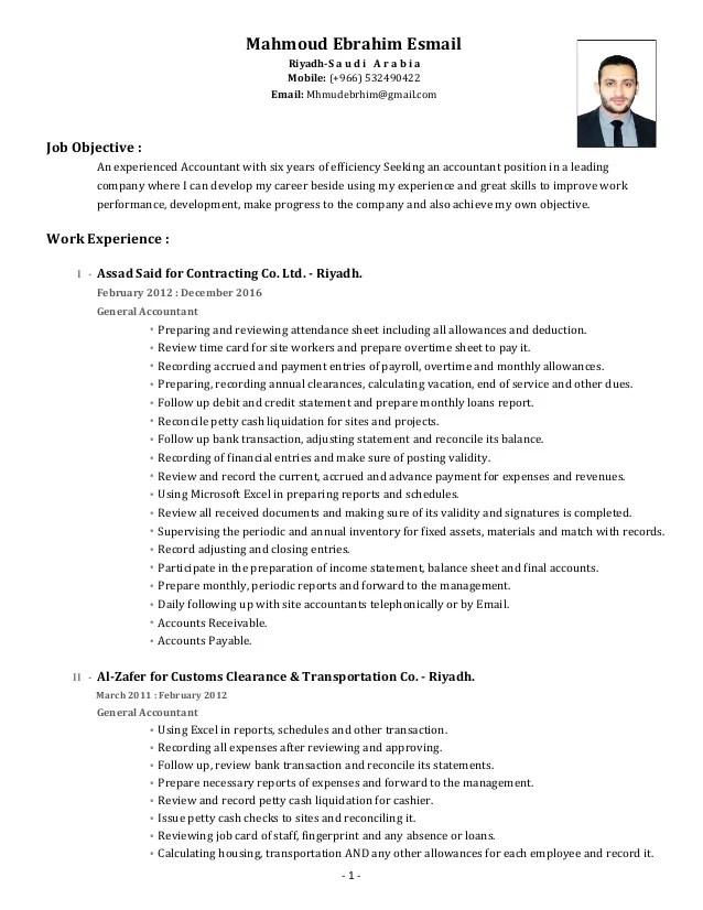 cv accountant english