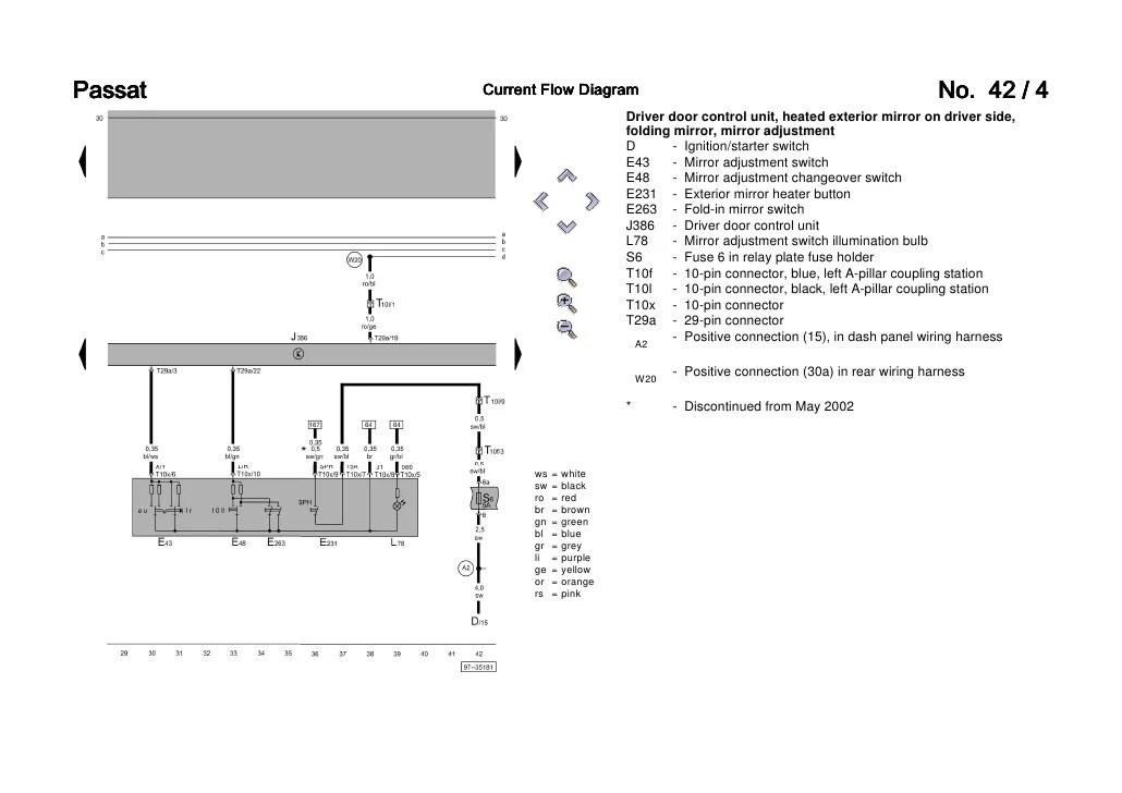 vw passat ccm wiring diagram reversing contactor b5 3b6 convenience current flow