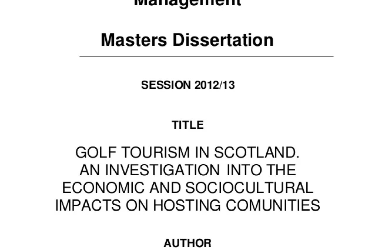 Dissertation topics in tourism dissertation proposal example