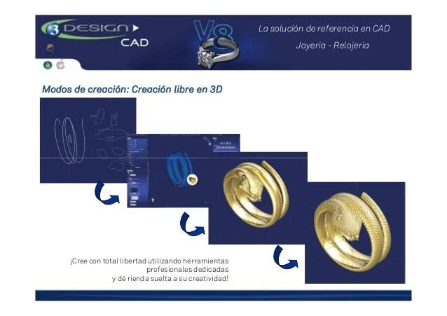 Presentacin Software 3Design De Diseo CAD Para Joyera
