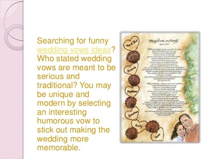 3 Funny Wedding Vows Ideas