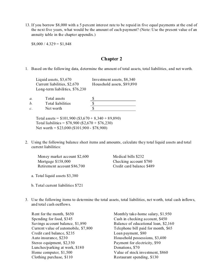 3rd Ed End Of Chapter Answers
