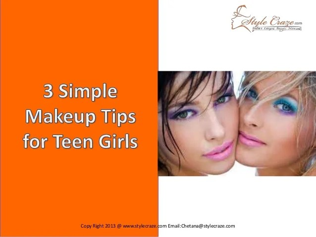 3 Simple Makeup Tips for Teen Girls