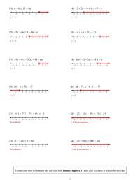 Solving Inequalities Worksheets Algebra 2 - graphing ...