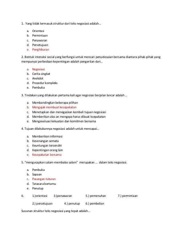Contoh Soal Teks Eksplanasi : contoh, eksplanasi, Tentang, Negosiasi, Prosedur, Kompleks