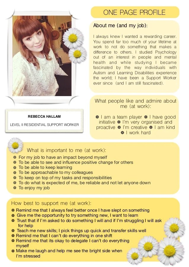 My One Page Work Profile