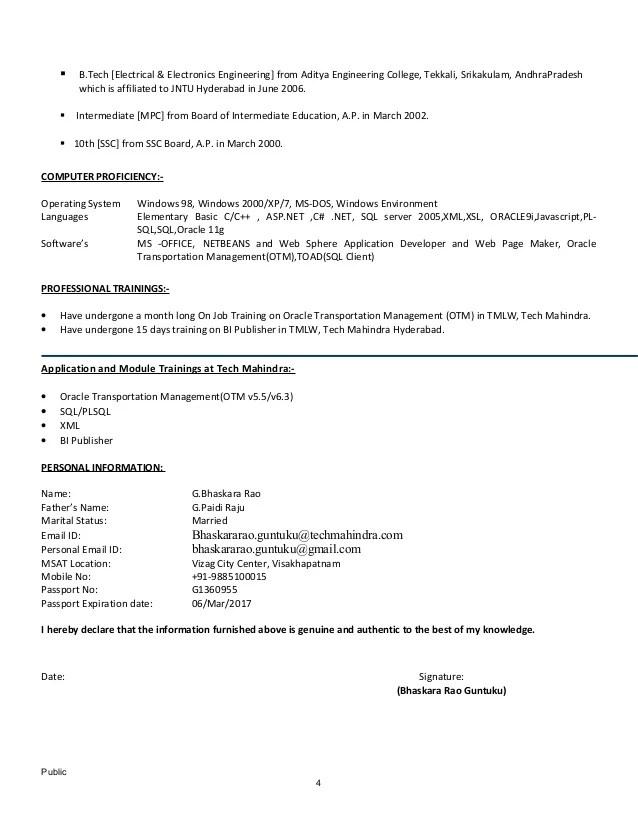 Bhaskara_OTM Technofunctional Consultant