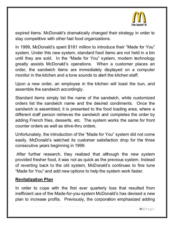 Mcdonalds Marketing Strategies