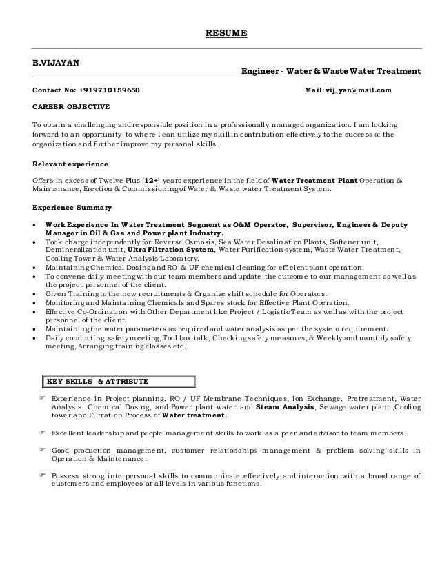 Vijayan Resume