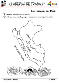 dibujos para pintar de las regiones del peru cuaderno de ...