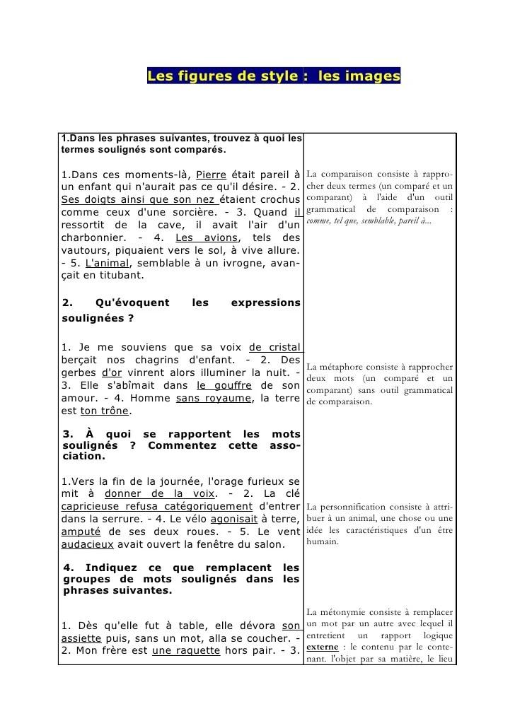 Exemple De Personnification D'un Objet : exemple, personnification, objet, Exercices, Figures, Style