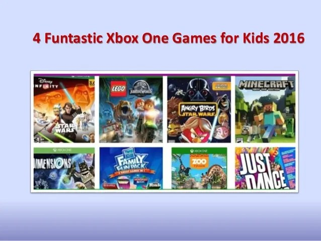 4 Funtastic Xbox One Games For Kids 2016