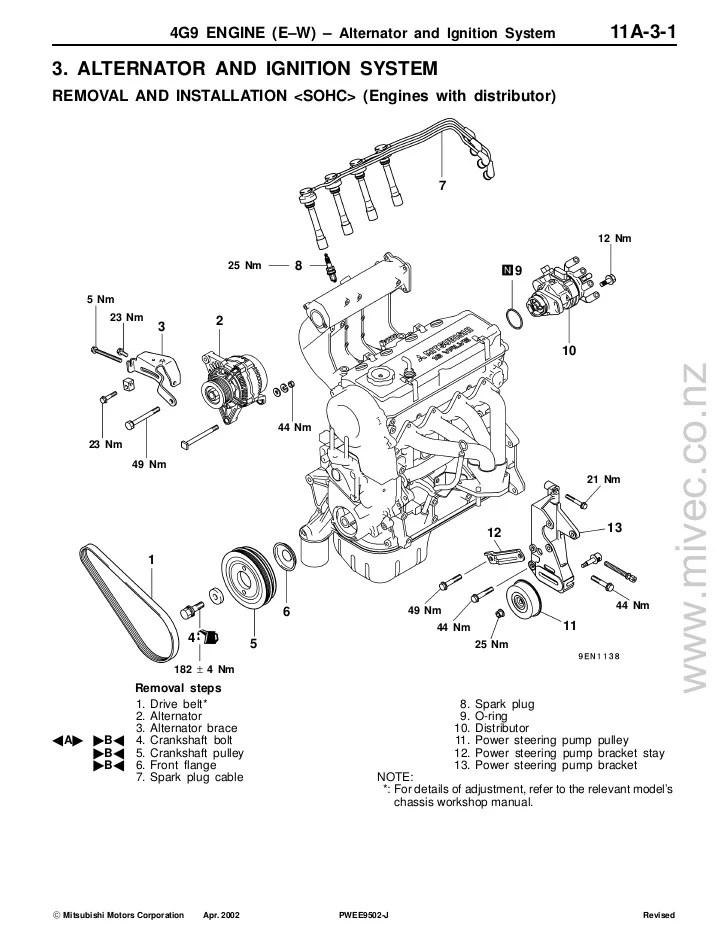 mitsubishi 4 pin alternator wiring diagram